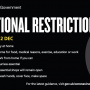 National Restrictions